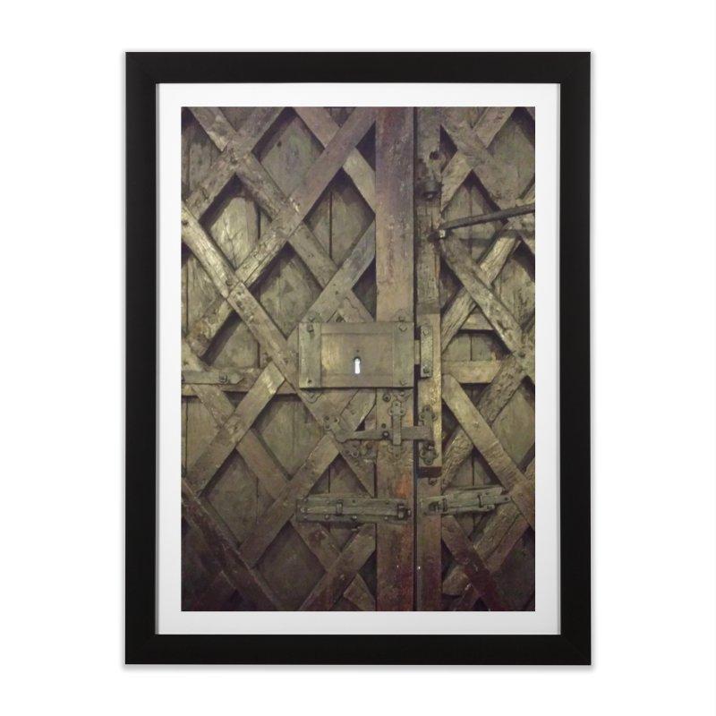 Black Door Home Framed Fine Art Print by Unhuman Design