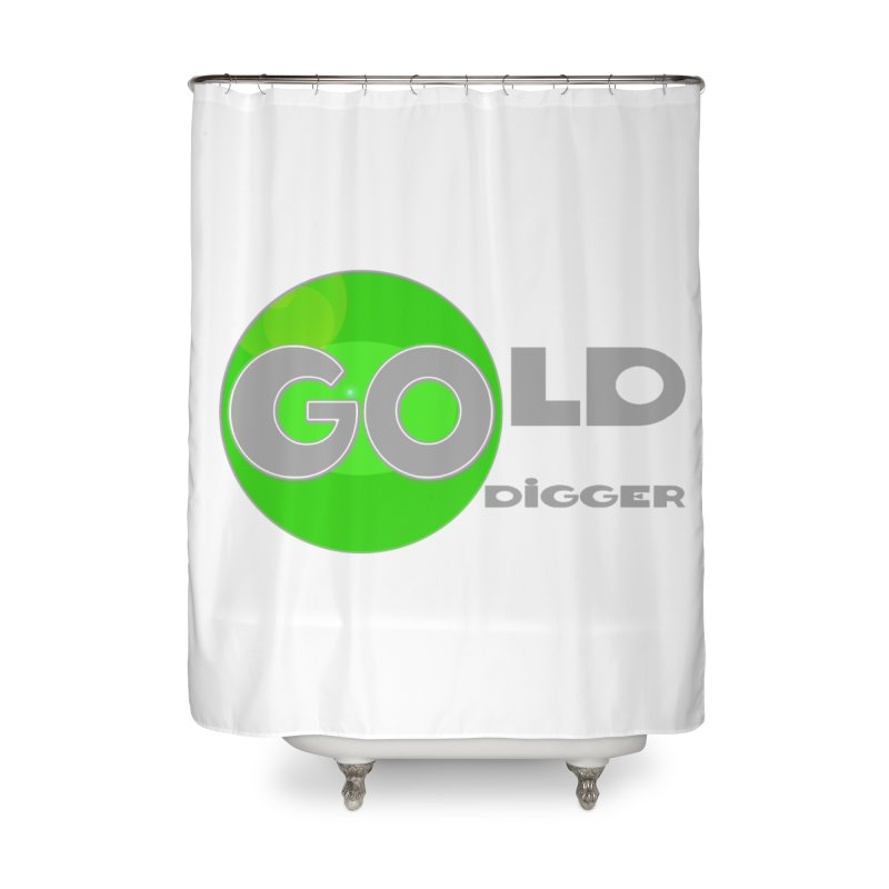 Gold Digger Home Shower Curtain by Unhuman Design