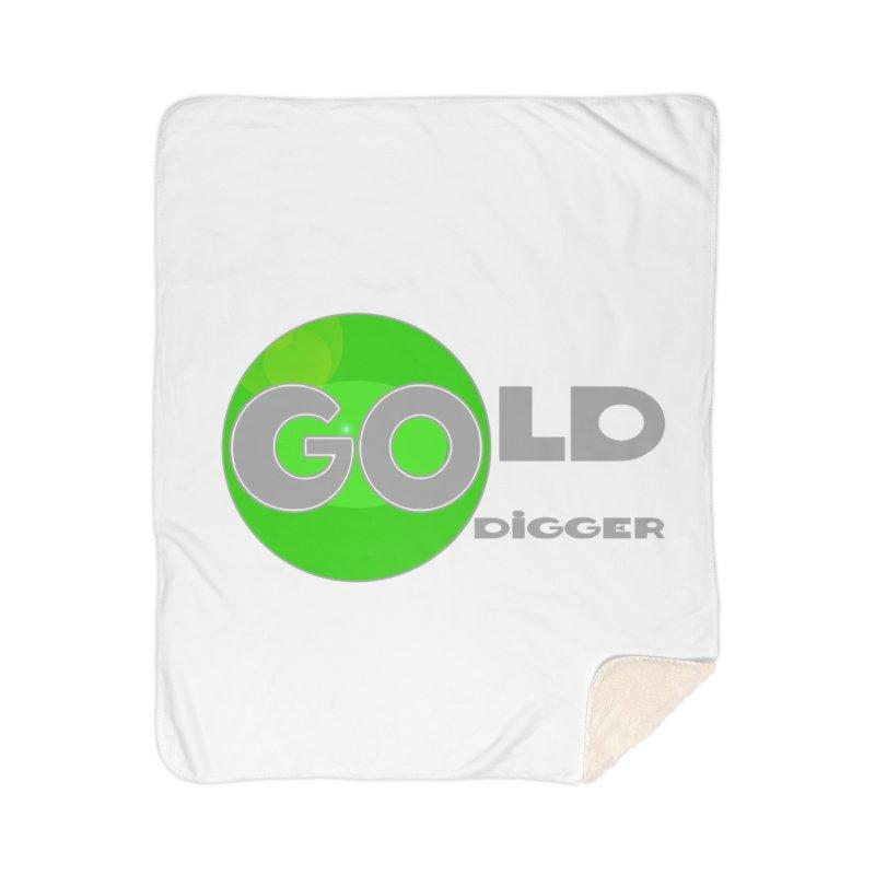 Gold Digger Home Sherpa Blanket Blanket by Unhuman Design