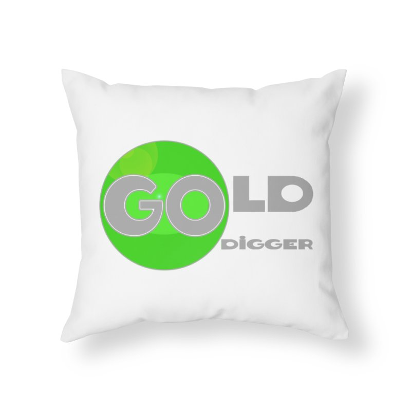 Gold Digger Home Throw Pillow by Unhuman Design