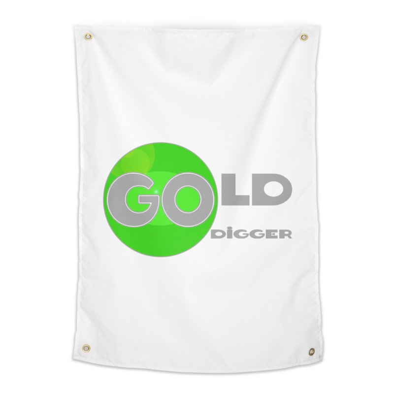 Gold Digger Home Tapestry by Unhuman Design