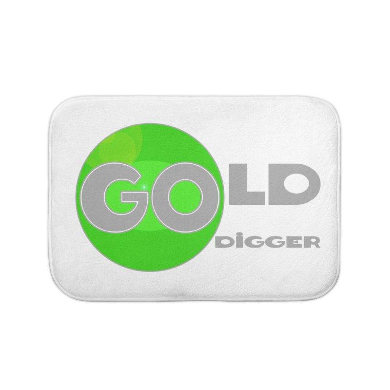 Gold Digger Home Bath Mat by Unhuman Design
