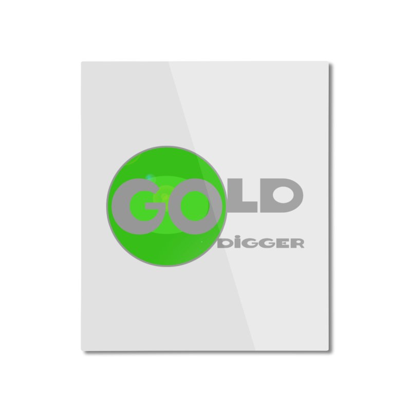 Gold Digger Home Mounted Aluminum Print by Unhuman Design