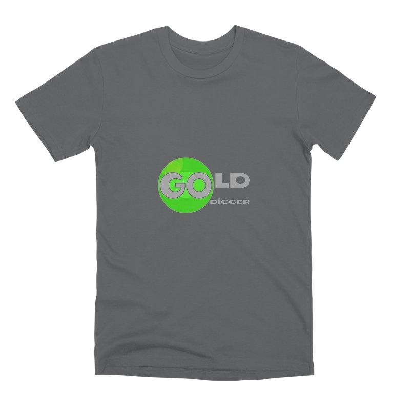 Gold Digger Men's Premium T-Shirt by Unhuman Design