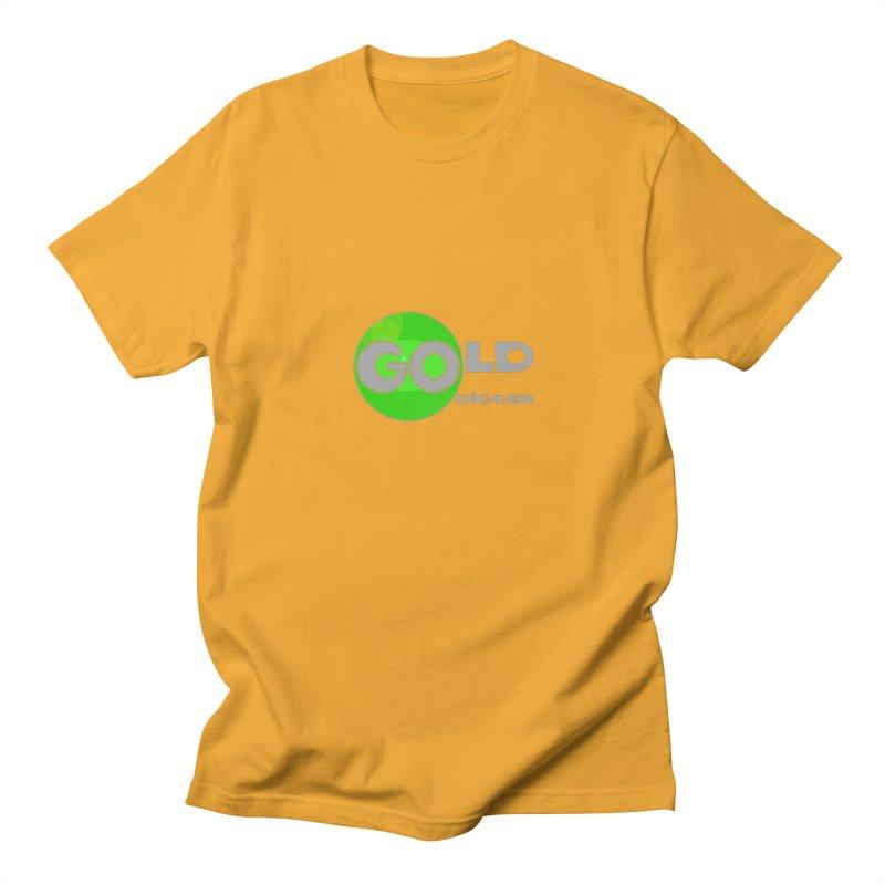 Gold Digger Men's Regular T-Shirt by Unhuman Design