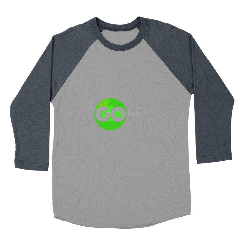 Gold Digger Women's Baseball Triblend Longsleeve T-Shirt by Unhuman Design