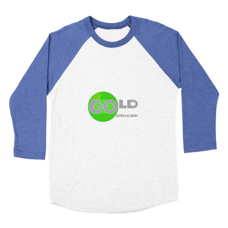 Gold Digger Men's Baseball Triblend Longsleeve T-Shirt by Unhuman Design