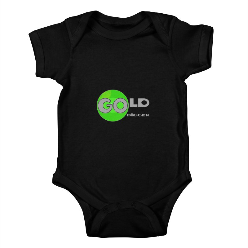 Gold Digger Kids Baby Bodysuit by Unhuman Design