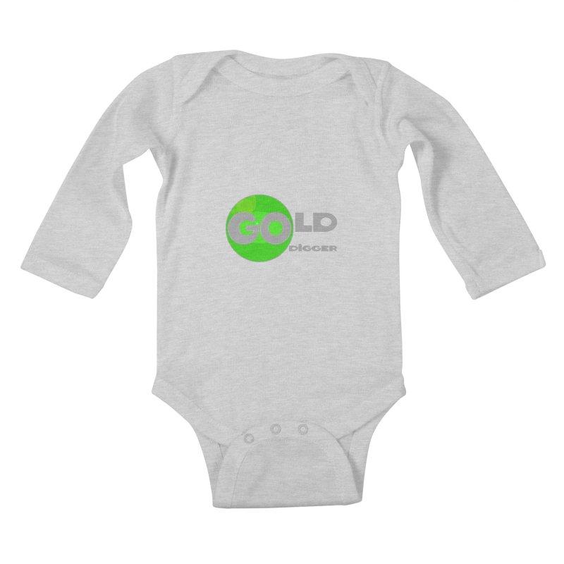 Gold Digger Kids Baby Longsleeve Bodysuit by Unhuman Design