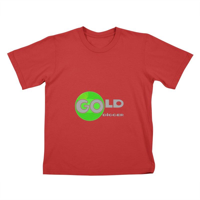 Gold Digger Kids T-Shirt by Unhuman Design