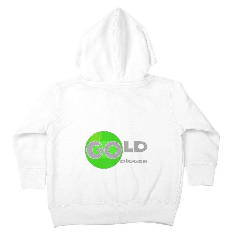 Gold Digger Kids Toddler Zip-Up Hoody by Unhuman Design