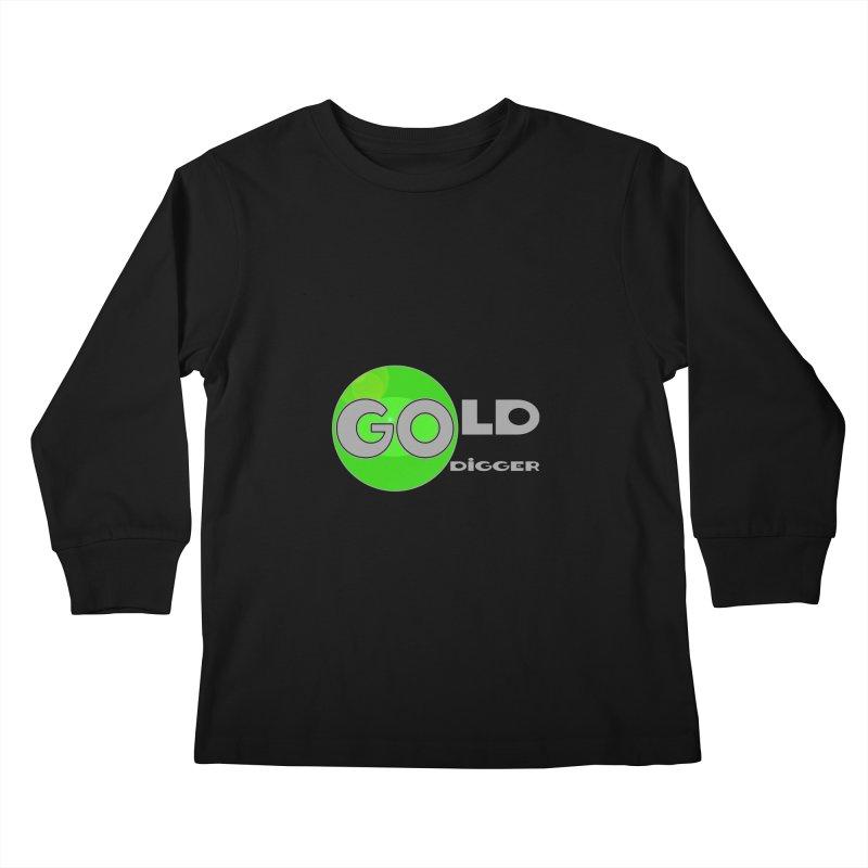 Gold Digger Kids Longsleeve T-Shirt by Unhuman Design