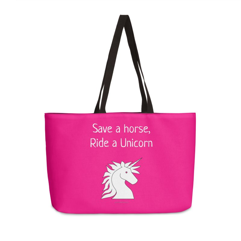 Save a horse, ride a unicorn Accessories Bag by unicornadventures's Artist Shop