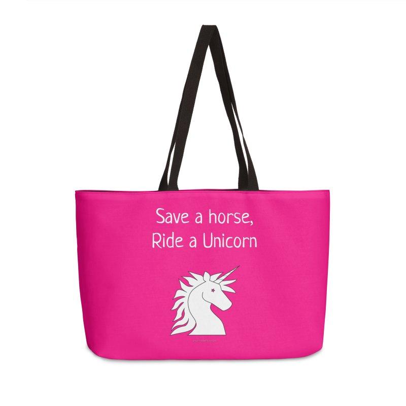 Save a horse, ride a unicorn Accessories Bag by unicornadventures's Artist Shop