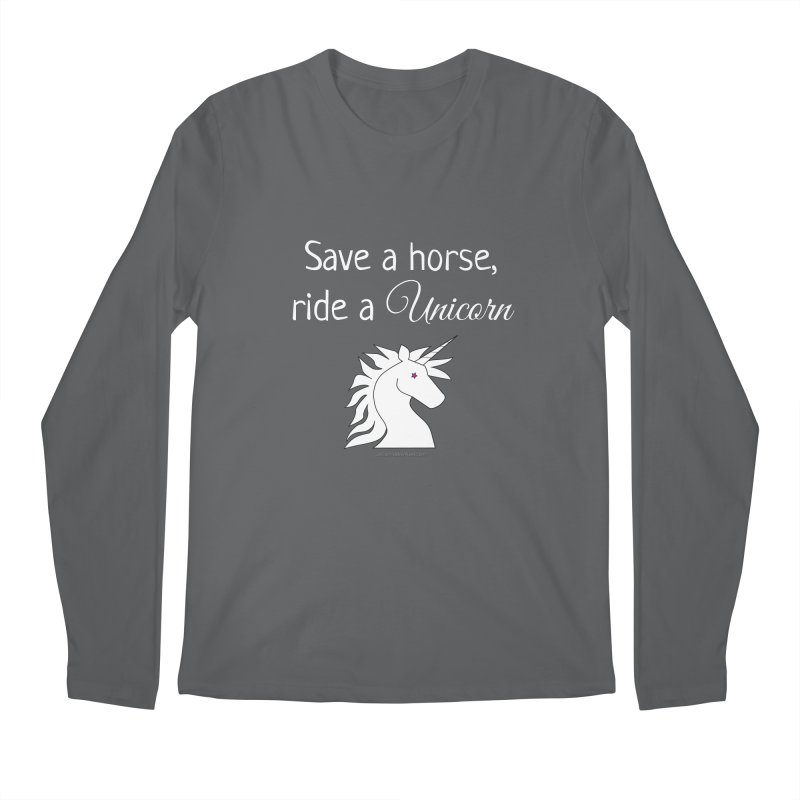 Save a horse, ride a unicorn Men's Regular Longsleeve T-Shirt by unicornadventures's Artist Shop