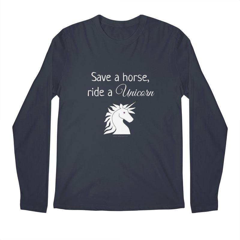 Save a horse, ride a unicorn Men's Regular Longsleeve T-Shirt by unicornadventures's Artist Shop
