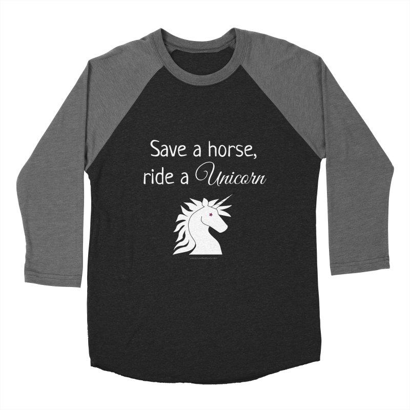 Save a horse, ride a unicorn Men's Baseball Triblend T-Shirt by unicornadventures's Artist Shop
