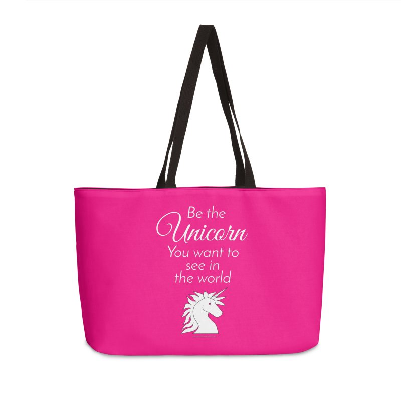 Be the unicorn you want to see in the world Accessories Bag by unicornadventures's Artist Shop
