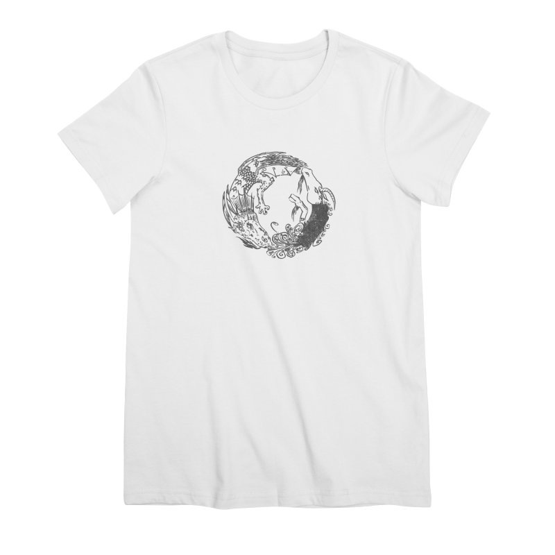 Unigon Logo, Dark Women's Premium T-Shirt by Unigon Pics Delicious Merch Shoppe