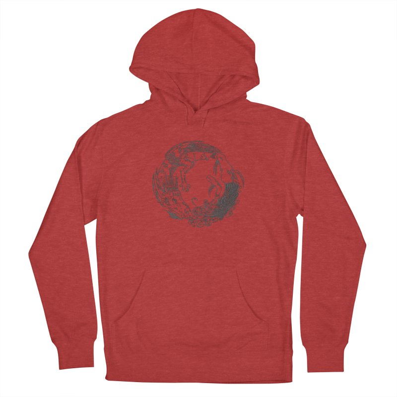 Unigon Logo, Dark Men's French Terry Pullover Hoody by Unigon Pics Delicious Merch Shoppe