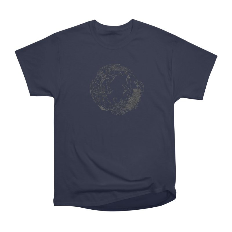 Unigon Logo, Dark Men's Heavyweight T-Shirt by Unigon Pics Delicious Merch Shoppe