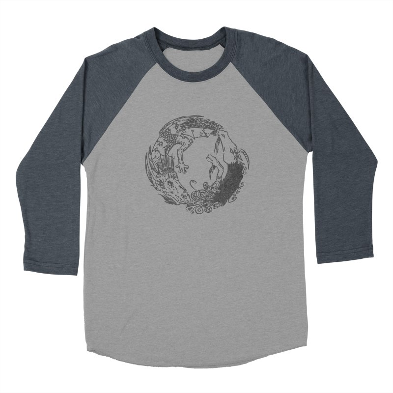 Unigon Logo, Dark Men's Baseball Triblend Longsleeve T-Shirt by Unigon Pics Delicious Merch Shoppe