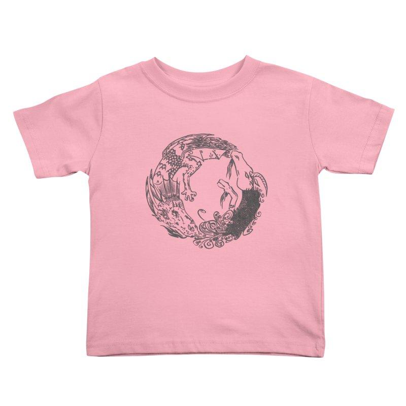 Unigon Logo, Dark Kids Toddler T-Shirt by Unigon Pics Delicious Merch Shoppe