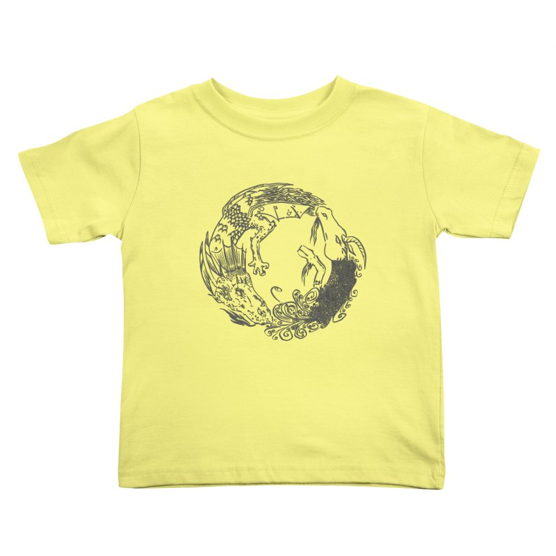Unigon Logo, Dark Kids Toddler T-Shirt by Unigon Pics Delicious Merch Shoppe