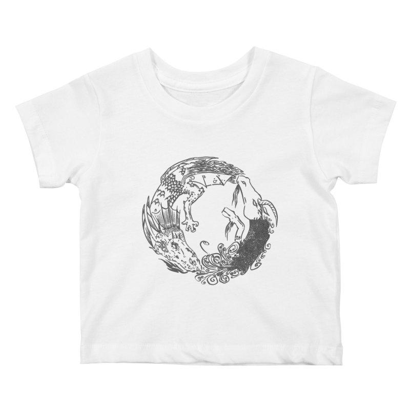 Unigon Logo, Dark Kids Baby T-Shirt by Unigon Pics Delicious Merch Shoppe