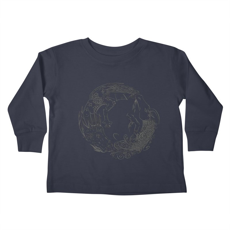 Unigon Logo, Dark Kids Toddler Longsleeve T-Shirt by Unigon Pics Delicious Merch Shoppe
