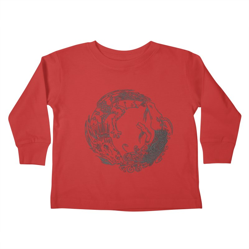 Unigon Logo, Dark Kids Toddler Longsleeve T-Shirt by Unigon Pics Delicious Merch Shoppe