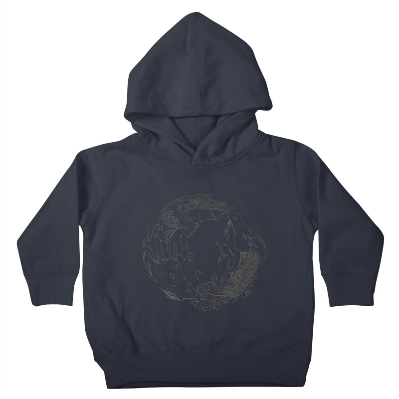 Unigon Logo, Dark Kids Toddler Pullover Hoody by Unigon Pics Delicious Merch Shoppe