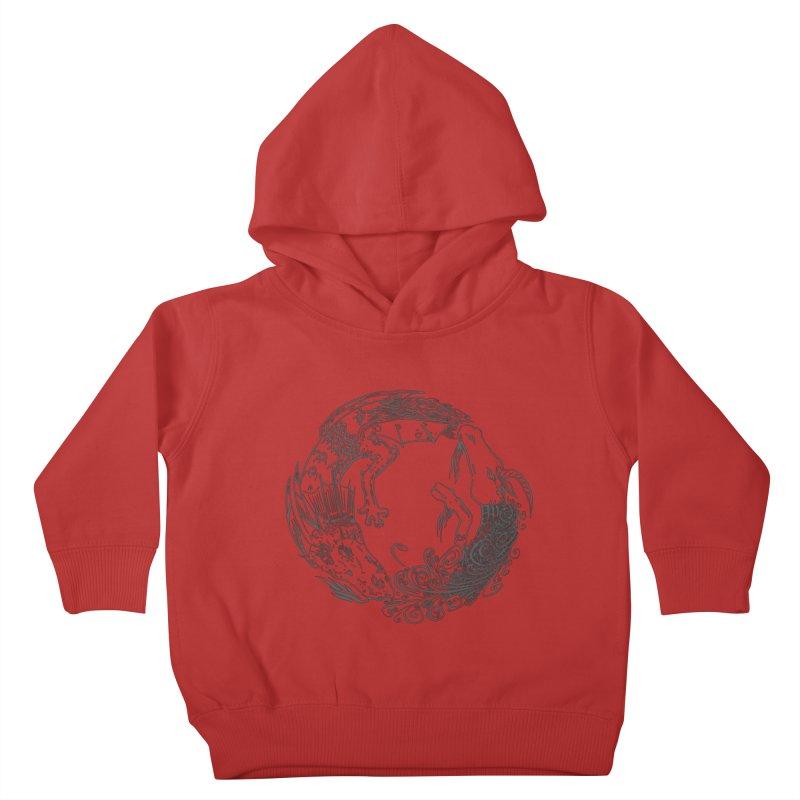 Unigon Logo, Dark Kids Toddler Pullover Hoody by Unigon Pics Delicious Merch Shoppe