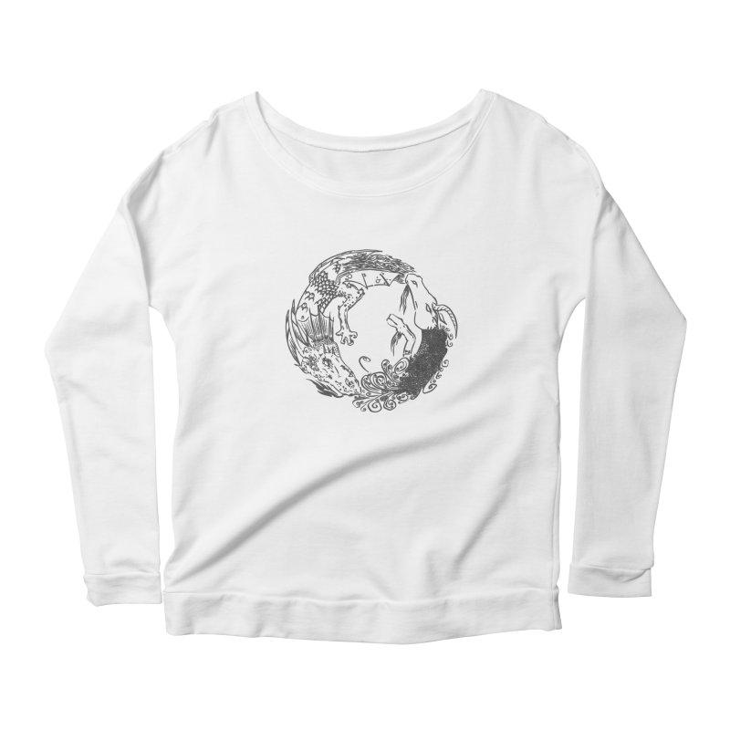 Unigon Logo, Dark Women's Scoop Neck Longsleeve T-Shirt by Unigon Pics Delicious Merch Shoppe
