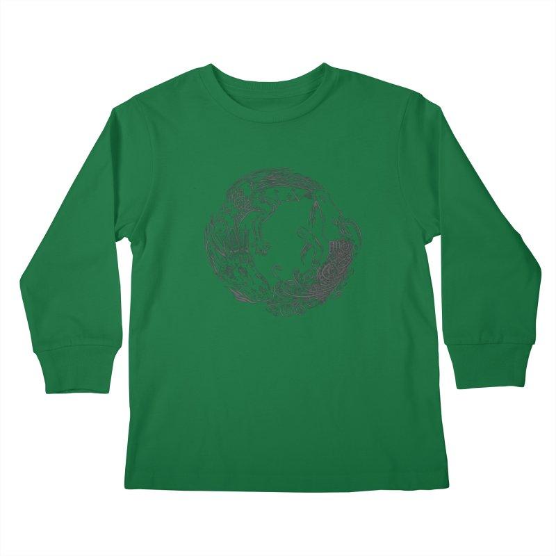 Unigon Logo, Dark Kids Longsleeve T-Shirt by Unigon Pics Delicious Merch Shoppe
