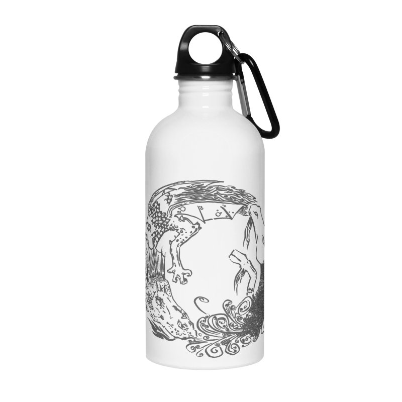 Unigon Logo, Dark Accessories Water Bottle by Unigon Pics Delicious Merch Shoppe