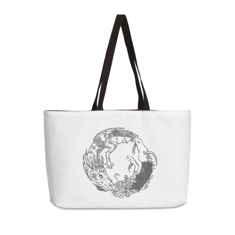 Unigon Logo, Dark Accessories Weekender Bag Bag by Unigon Pics Delicious Merch Shoppe