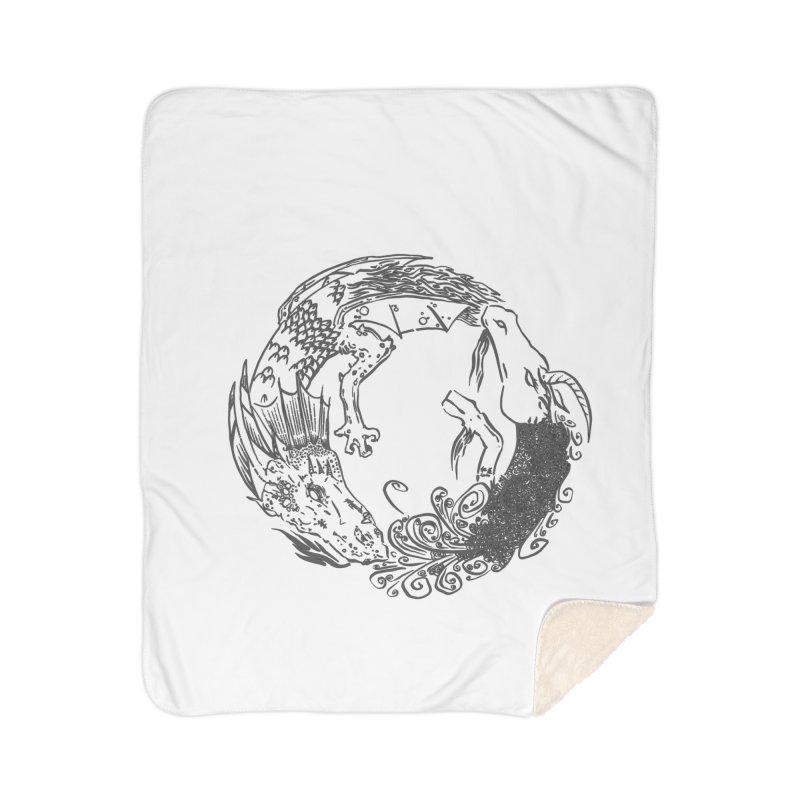 Unigon Logo, Dark Home Sherpa Blanket Blanket by Unigon Pics Delicious Merch Shoppe