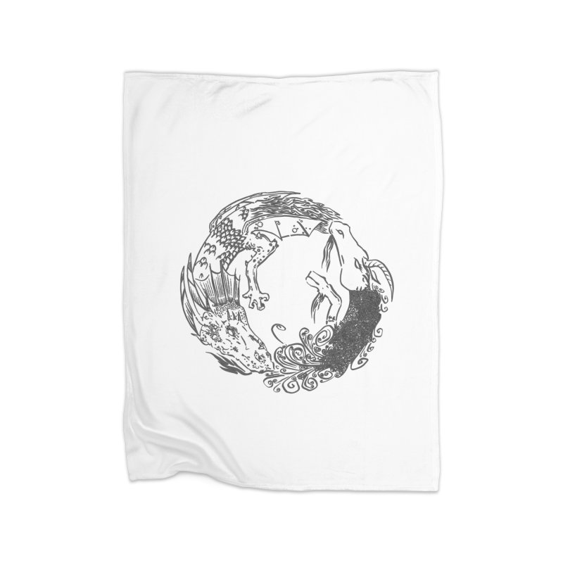 Unigon Logo, Dark Home Blanket by Unigon Pics Delicious Merch Shoppe