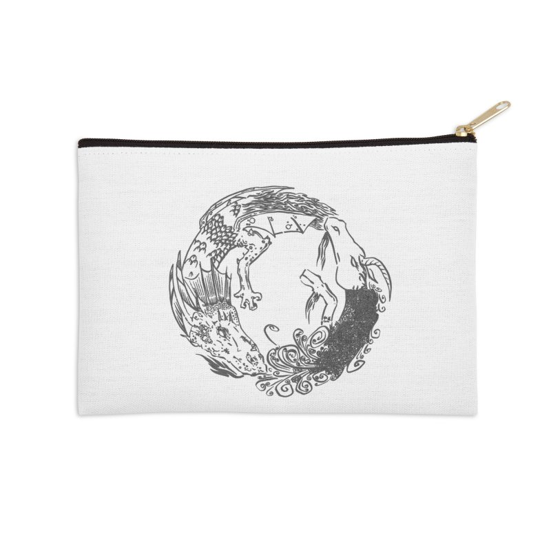 Unigon Logo, Dark Accessories Zip Pouch by Unigon Pics Delicious Merch Shoppe