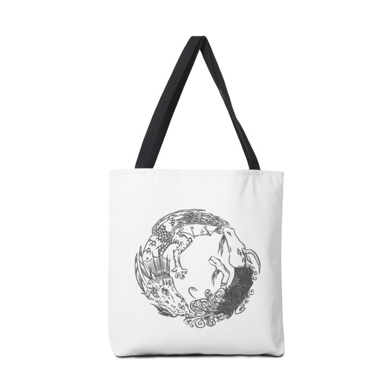 Unigon Logo, Dark Accessories Tote Bag Bag by Unigon Pics Delicious Merch Shoppe