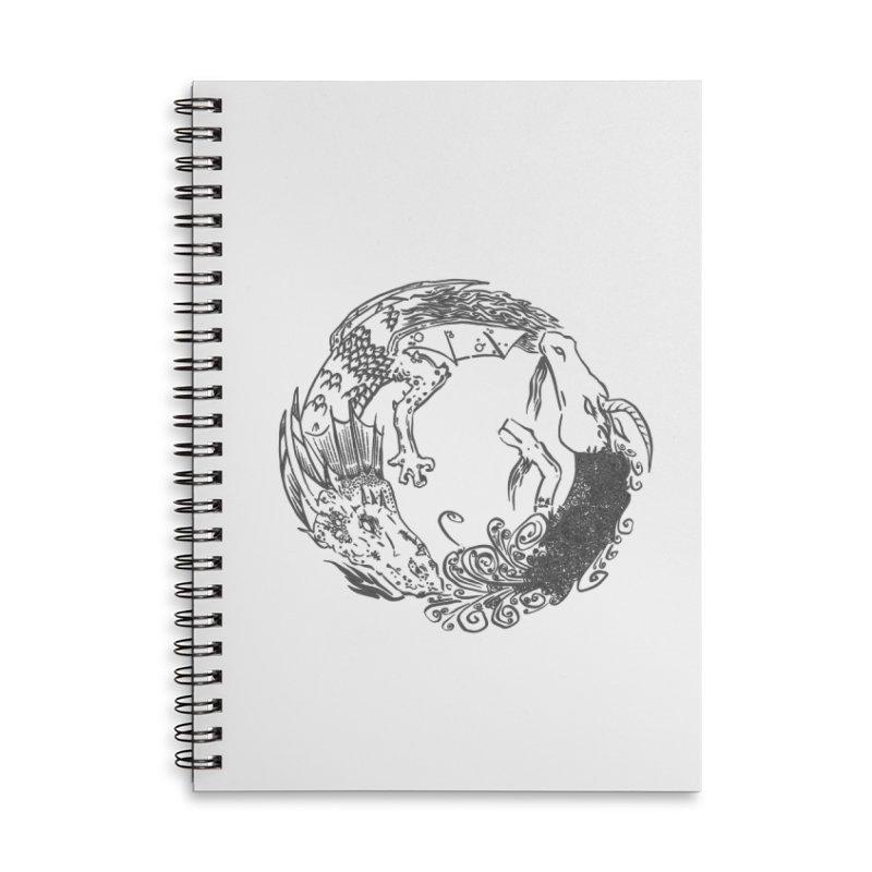Unigon Logo, Dark Accessories Lined Spiral Notebook by Unigon Pics Delicious Merch Shoppe