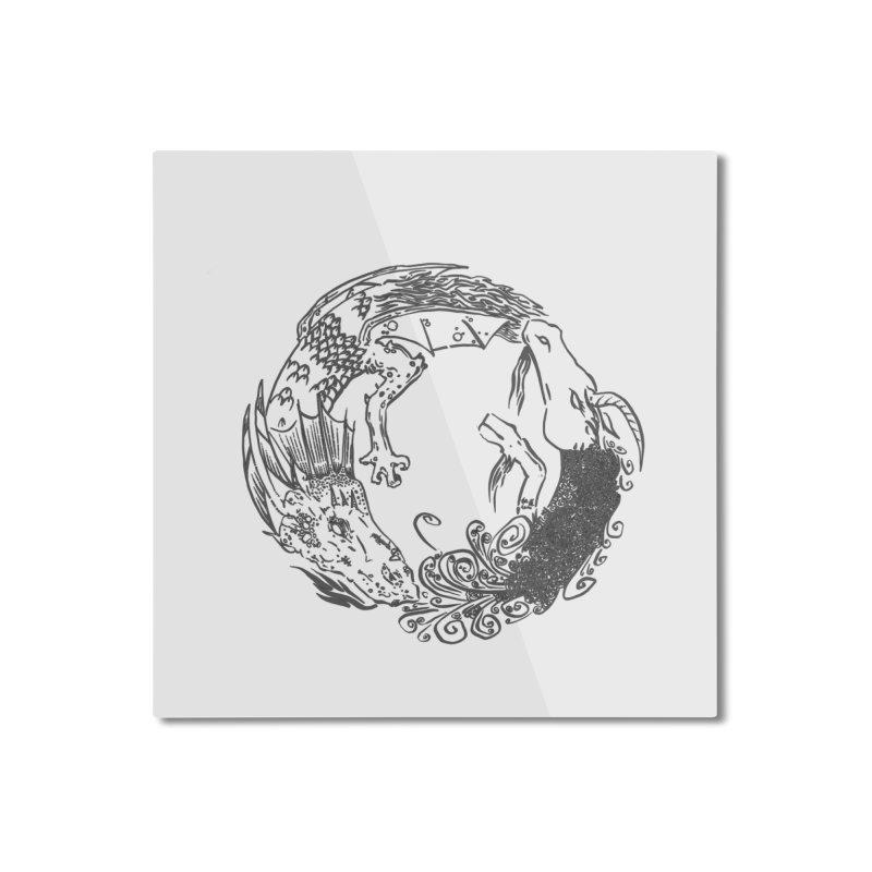 Unigon Logo, Dark Home Mounted Aluminum Print by Unigon Pics Delicious Merch Shoppe