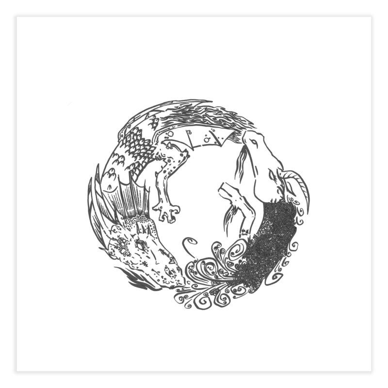 Unigon Logo, Dark Home Fine Art Print by Unigon Pics Delicious Merch Shoppe
