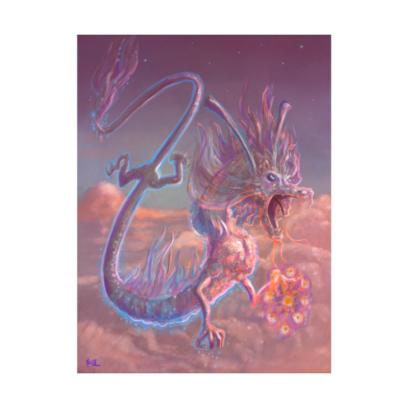 Sky Dragon Home Fine Art Print by Unigon Pics Delicious Merch Shoppe