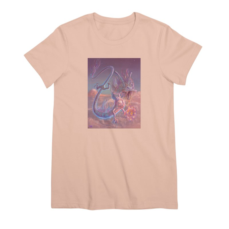 Sky Dragon Women's Premium T-Shirt by Unigon Pics Delicious Merch Shoppe