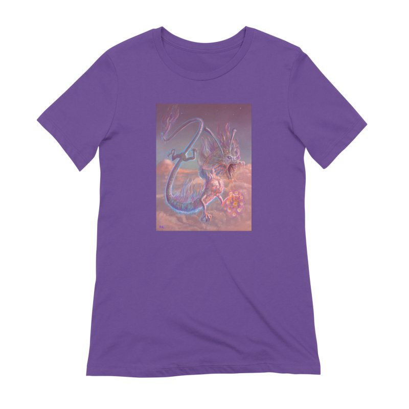 Sky Dragon Women's Extra Soft T-Shirt by Unigon Pics Delicious Merch Shoppe
