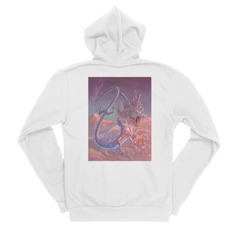 Sky Dragon Women's Sponge Fleece Zip-Up Hoody by Unigon Pics Delicious Merch Shoppe