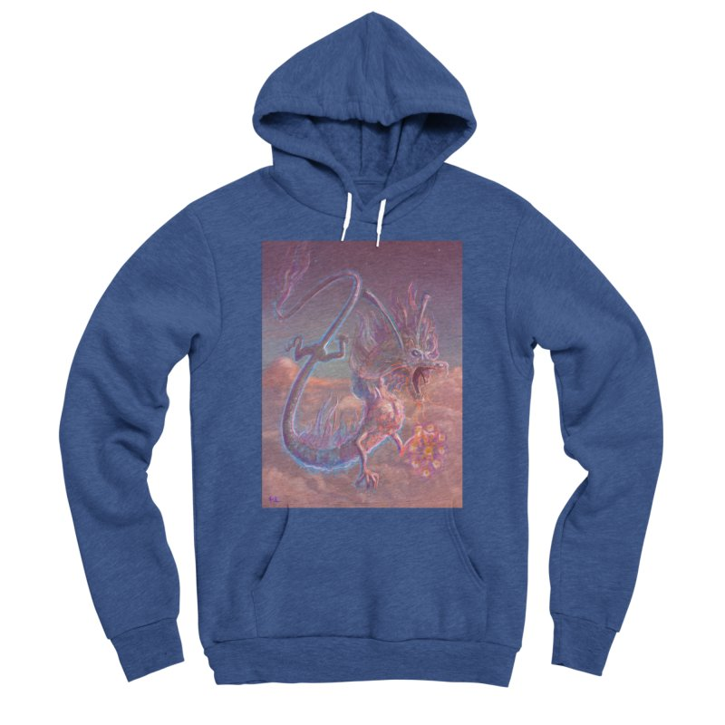 Sky Dragon Men's Sponge Fleece Pullover Hoody by Unigon Pics Delicious Merch Shoppe