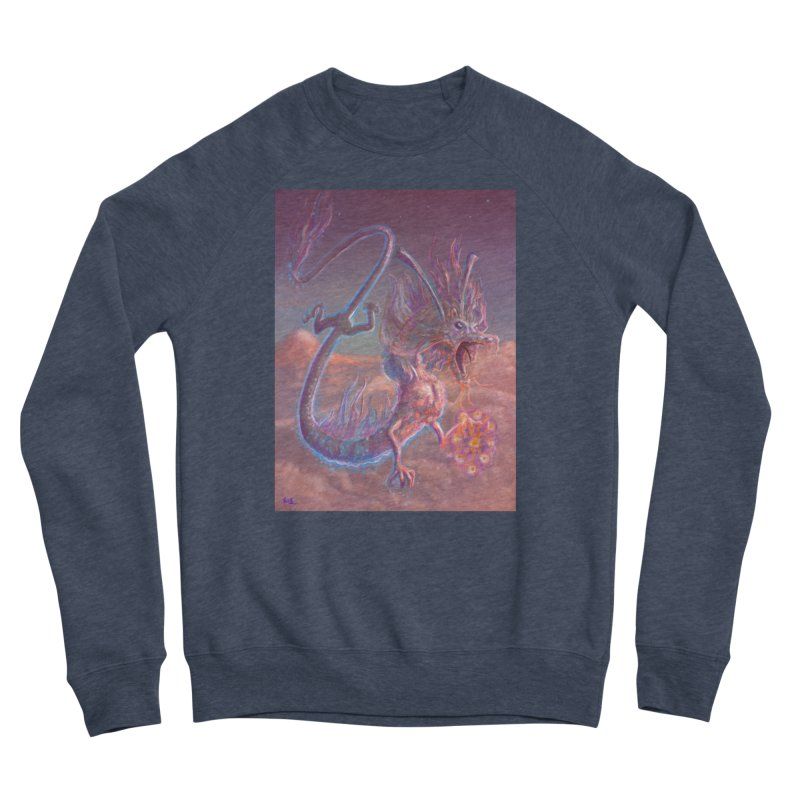 Sky Dragon Men's Sponge Fleece Sweatshirt by Unigon Pics Delicious Merch Shoppe